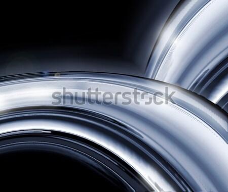 Cromo abstract completo schermo sfondo metal Foto d'archivio © zven0