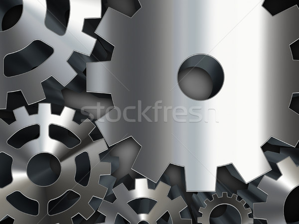 Metal dişliler soyut iş teknoloji siyah Stok fotoğraf © zven0