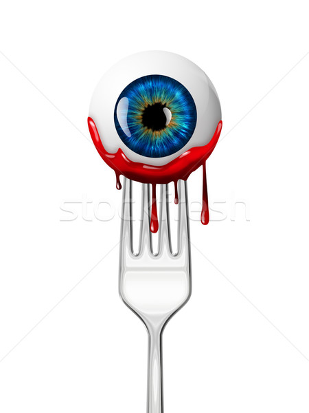eyeball on the fork Stock photo © zven0