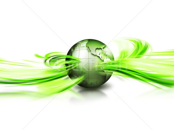 Zöld bolygó absztrakt kép környezeti üzlet Stock fotó © zven0