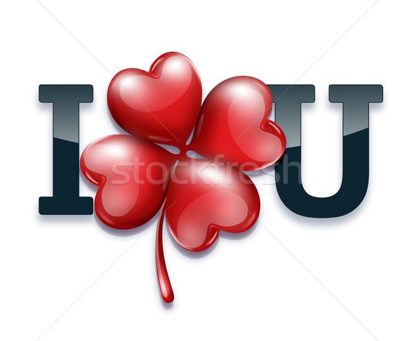 Romantik kart sevgililer günü yonca sevmek doğa Stok fotoğraf © zven0