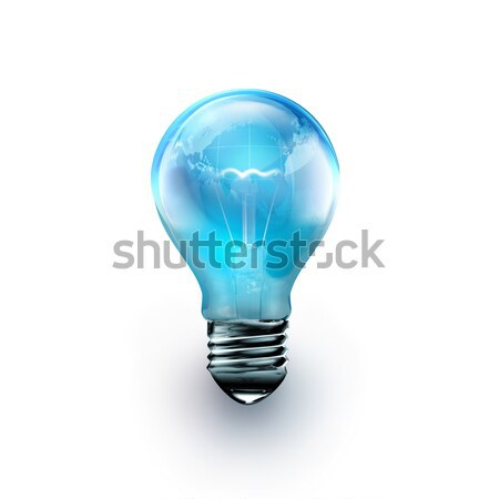 light bulb with the world inside  Stock photo © zven0