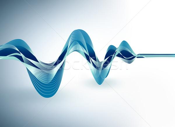 Niebieski cyfrowe fali dynamiczny świetle tle Zdjęcia stock © zven0