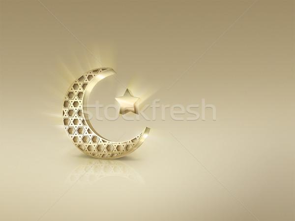 Półksiężyc star świetle streszczenie projektu Zdjęcia stock © zven0