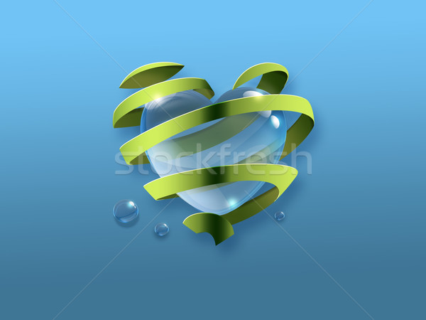Symbol of environmental protection Stock photo © zven0