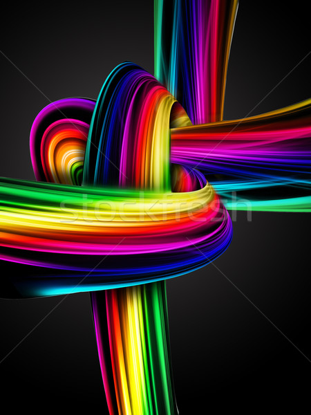 Rainbow nodo abstract buio luce design Foto d'archivio © zven0