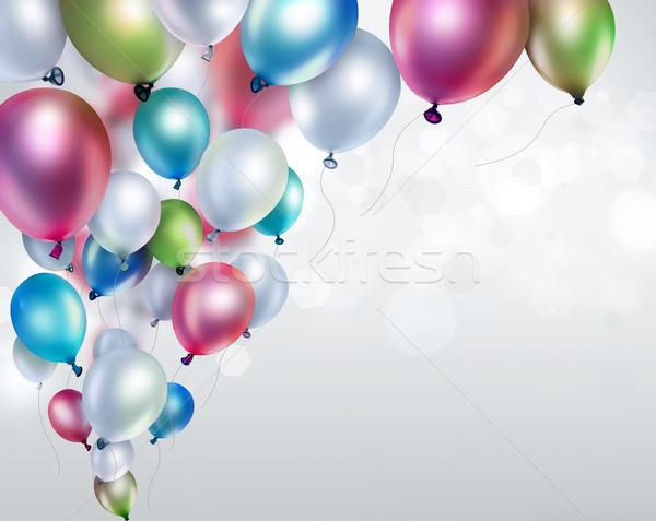 Сток-фото: красочный · шаров · свет · расплывчатый · вечеринка