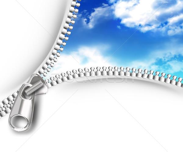 zipper opening skies Stock photo © zven0