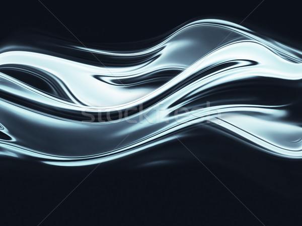 Chrome plein écran résumé métal fond Photo stock © zven0