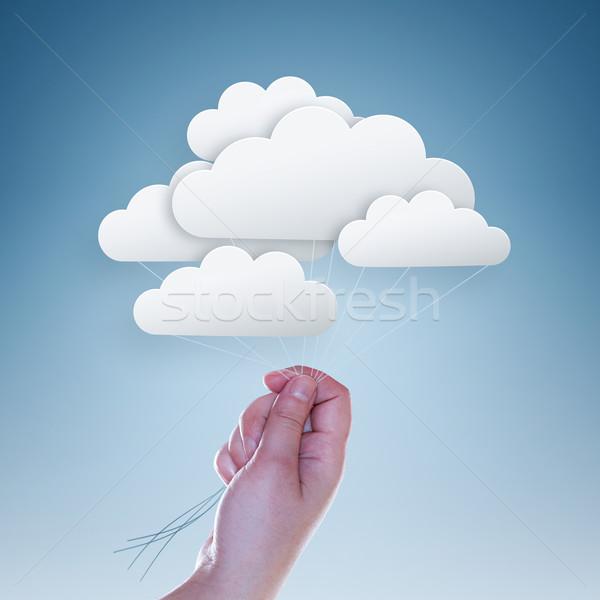 Chmury strony jasnoniebieski działalności technologii Zdjęcia stock © zven0
