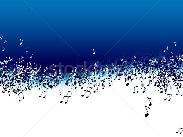 Zene absztrakt hangjegyek kék háttér számítógép Stock fotó © zven0