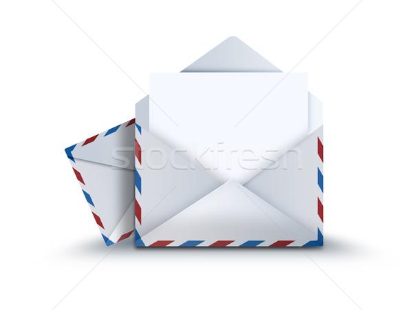 Mail dotación hoja papel luz diseno Foto stock © zven0