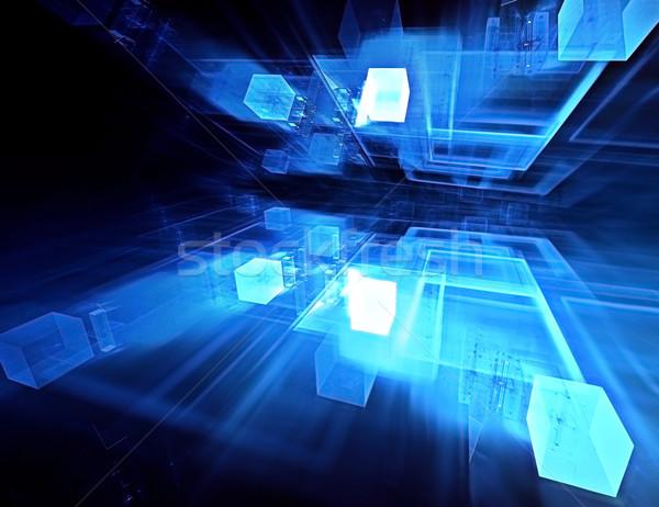 Abstract technologie computer gegenereerde business internet Stockfoto © zven0