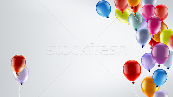 ünnepi léggömbök fény fényes színes buli Stock fotó © zven0