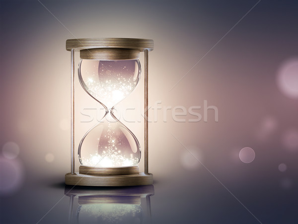 hourglass with shining light Stock photo © zven0