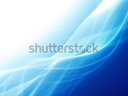 Streszczenie niebieski linie tle przestrzeni Zdjęcia stock © zven0