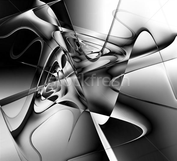 Monocromo psicodélico diseno negro poder blanco Foto stock © zven0
