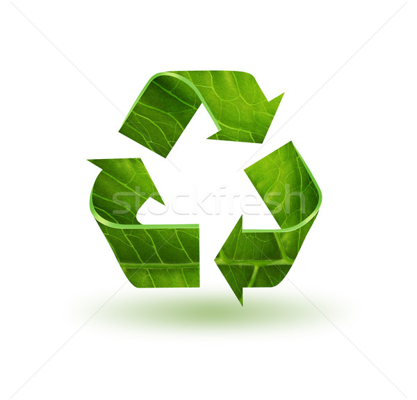 Recycle символ лист текстуры природы знак Сток-фото © zven0