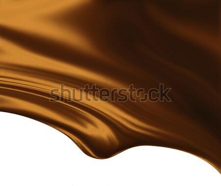 Gesmolten chocolade witte textuur abstract achtergrond Stockfoto © zven0