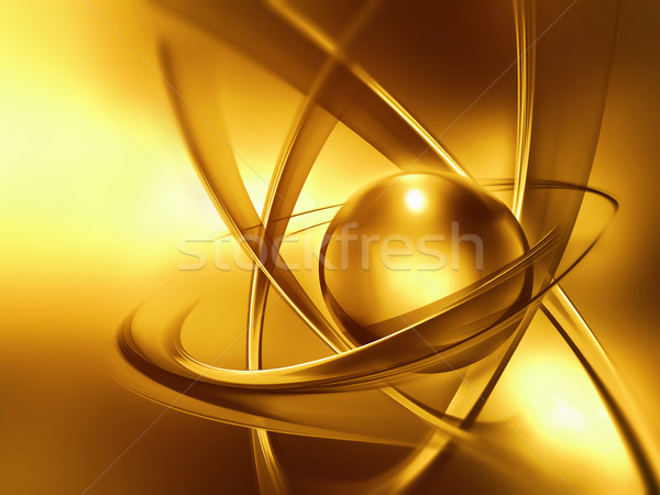 golden atom close up  Stock photo © zven0