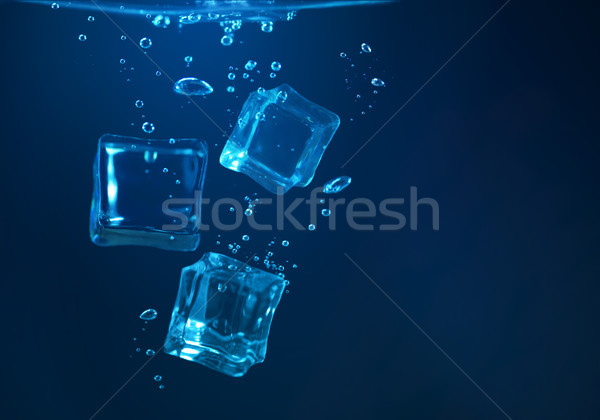 ice cubes underwater Stock photo © zven0