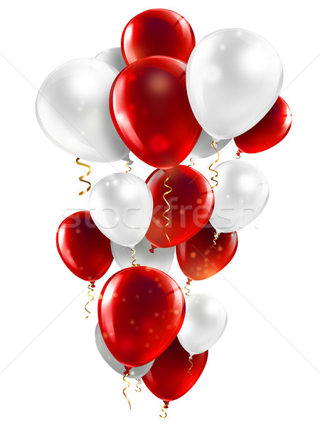 red and white balloons  Stock photo © zven0