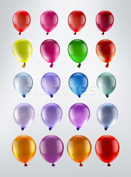 Veelkleurig ballonnen rij licht partij abstract Stockfoto © zven0