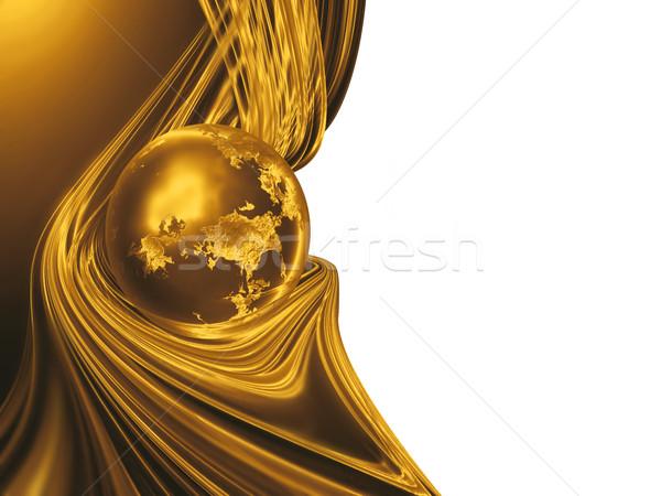 Dourado planeta ouro abstrato luz modelo Foto stock © zven0