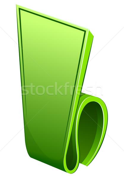 Label zusammengerollt Rand Hintergrund Kunst grünen Stock foto © zybr78