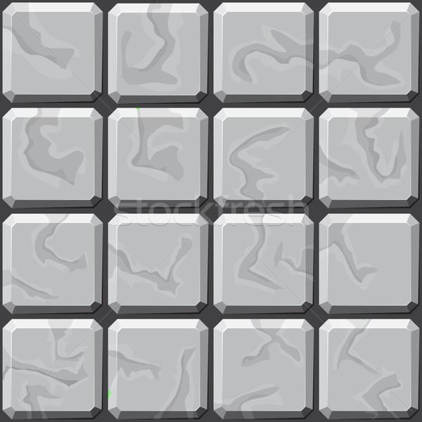 stone tiles seamless pattern Stock photo © zybr78
