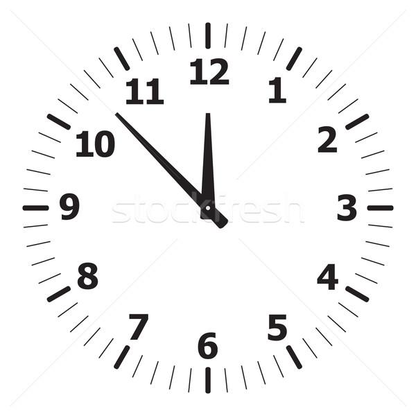 Fekete egyszerű óra számlap idő óra Stock fotó © zybr78