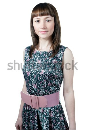 Women in flower pattern dress Stock photo © zybr78