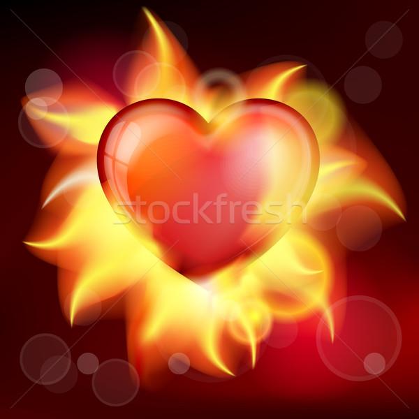 burning heart Stock photo © zybr78