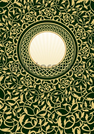 gold frame with floral ornamental  Stock photo © zybr78