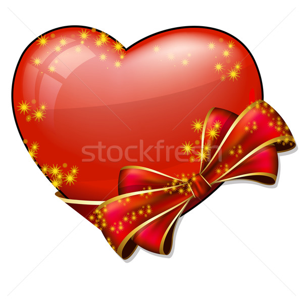 Valentine heart with bow Stock photo © zybr78