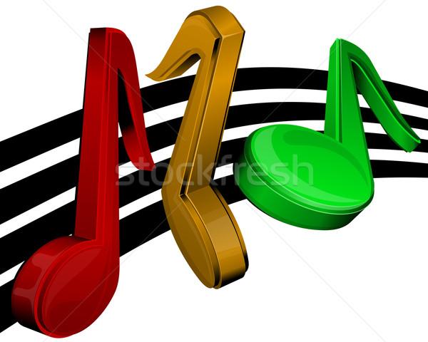Notas musicais sólido branco notas partituras Foto stock © zybr78