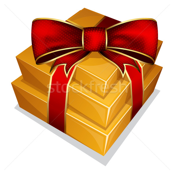 Pile gift box with bow Stock photo © zybr78