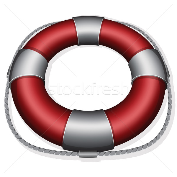 Vermelho bóia salva-vidas segurança emergência proteção Foto stock © zybr78