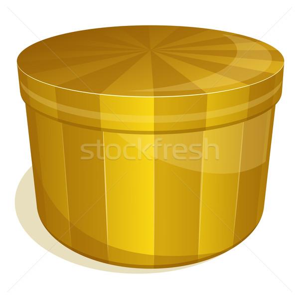Closed yellow box Stock photo © zybr78