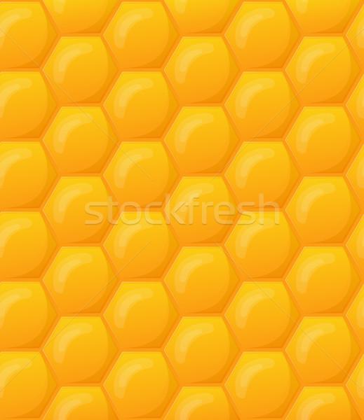 Favo de mel papel de parede padrão sem costura comida fundos Foto stock © zybr78