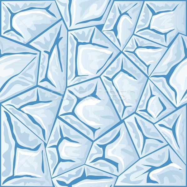 Jég végtelen minta kék tél festmény hátterek Stock fotó © zybr78