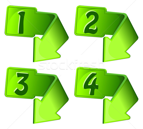 Green icon with arrow and numerals Stock photo © zybr78
