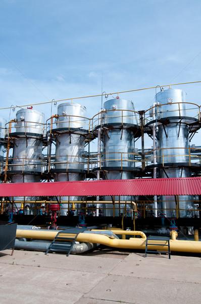 Benzin gyár kilátás olajipar épület technológia Stock fotó © zybr78