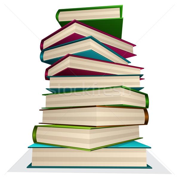 Köteg könyvek izolált fehér papír tudomány Stock fotó © zybr78