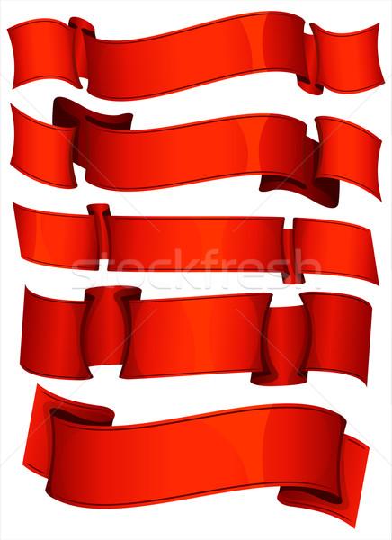 набор коллекция красный ретро успех Сток-фото © zybr78