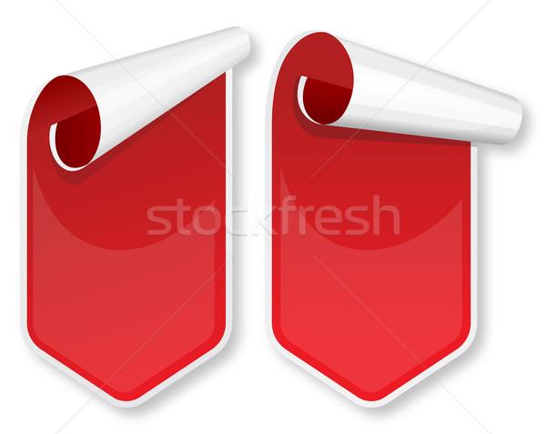 Piros csomagol matricák szett gyűjtemény terv Stock fotó © zybr78