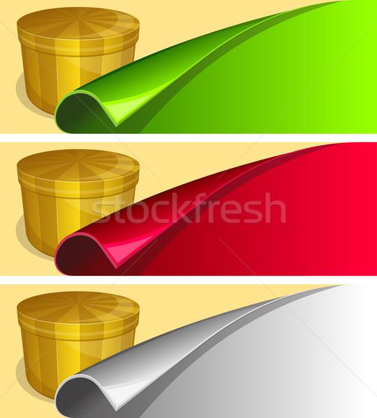Etiqueta enrolado borda coleção diferente cor Foto stock © zybr78