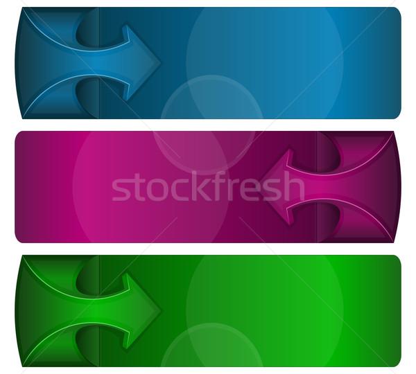 Infografika dizájn elem absztrakt szalag nyíl terv Stock fotó © zybr78