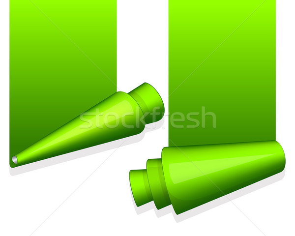 Verde adesivo enrolado borda turquesa fundo Foto stock © zybr78