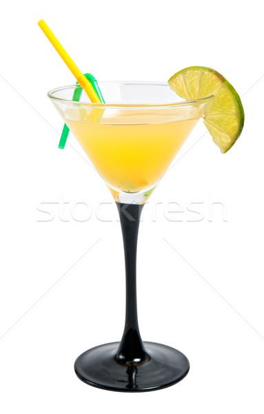 Vodka narancs koktél kicsi üveg izolált Stock fotó © zybr78